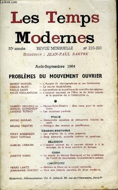 Les temps modernes N° 219-220, 1964
